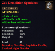 Zek Demolition Spaulders