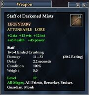 Staff of Darkened Mists