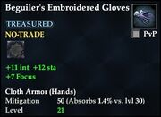 Beguiler's Embroidered Gloves