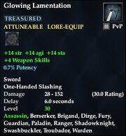 Glowing Lamentation