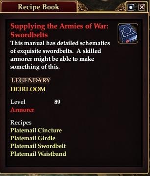 Supplying the armies of war Swordbelts