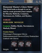 Elemental Master's Glove Mold