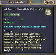 Alchemist Essentials Volume 37