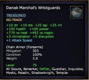 Danak marshal's wristguards