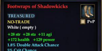 Footwraps of Shadowkicks
