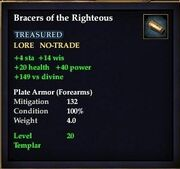 Bracers of the Righteous