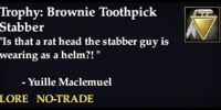 Trophy: Brownie Toothpick Stabber