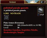 Polished parade gussets