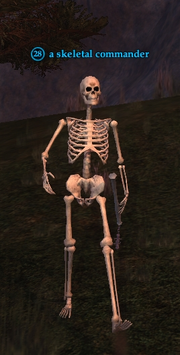 A skeletal commander