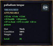 Palladium torque