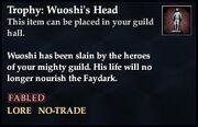 Trophy Wuoshi's Head