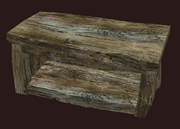 A pristine primitive elm bookcase (Visible)