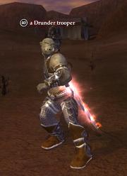 A Drunder trooper