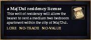 A Maj'Dul residency license