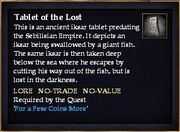 Tablet of the Lost