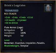 Brink's Legplates