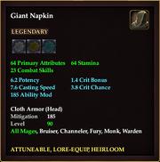 Giant Napkin