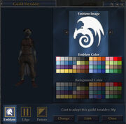 Guild Cloak Design Window Highlighted