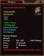 Mammoth Hide Pouch