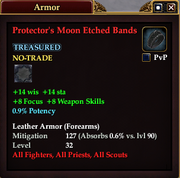Protector's Moon Etched Bands
