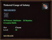 Tinkered Gauge of Infamy