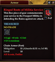 Ringed Boots of Militia Service