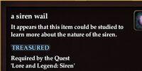 A siren wail
