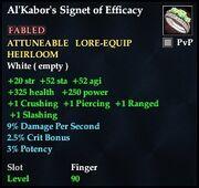 Al'Kabor's Signet of Efficacy