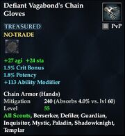 Defiant Vagabond's Chain Gloves