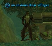 An anxious iksar villager