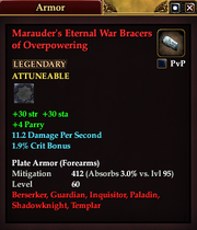 Marauder's Eternal War Bracers of Overpowering