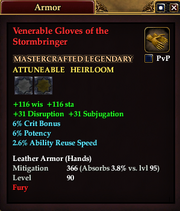 Venerable Gloves of the Stormbringer