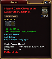Blessed Chain Gloves of the Ragebourne Champion