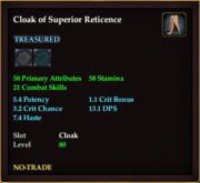 Cloak of Superior Reticence