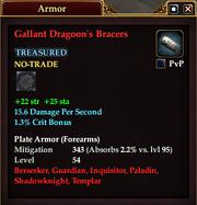Gallant Dragoon's Bracers
