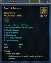 Sash of Secrets