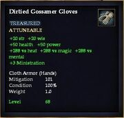 Dirtied Gossamer Gloves