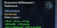 Dracurion Militiaman's Vambraces