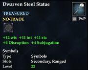 Dwarven Steel Statue