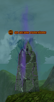 An arcane runestone
