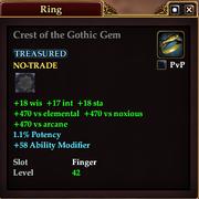 Crest of the Gothic Gem