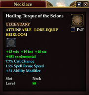 Healing Torque of the Scions