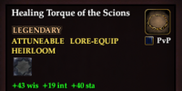 Healing Torque of the Scions