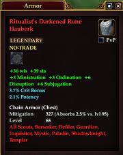 Ritualist's Darkened Rune Hauberk