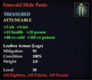 Emerald Hide Pants