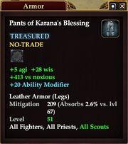 Pants of Karana's Blessing
