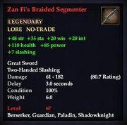 Zan Fi's Braided Segmenter