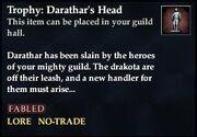 Trophy Darathar's Head