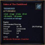Sabre of The Darkblood