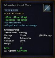 Moonsteel Great Mace